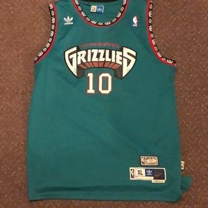 Mike Bibby Vancouver Grizzlies Addidas jersey